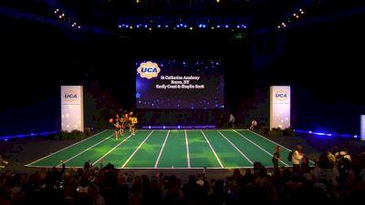 St Catharine Academy [2020 Junior Varsity Non Tumbling Game Day Finals] 2020 UCA National High School Cheerleading Championship