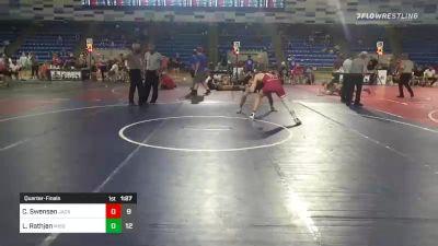 152 lbs Quarterfinal - Cael Swensen, Jacked Rabbits vs Logan Rathjen, Missouri United
