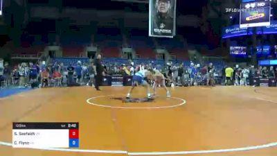120 lbs Consi Of 4 - Sean Seefeldt, Ohio vs Cooper Flynn, Tennessee
