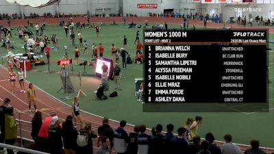 Women's 1k, Heat 2