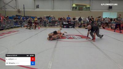 70 kg Consi Of 32 #1 - Austin Wilson, Mat-Town USA vs Wyatt Sheets, Cowboy RTC/TMWC