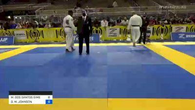 MAX DOS SANTOS GIMENIS vs DEVHONTE M. JOHNSON 2020 Pan Jiu-Jitsu IBJJF Championship
