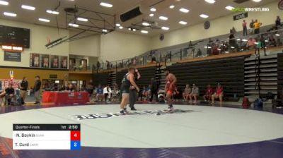 97 kg Quarterfinal - Nicholas Boykin, Sunkist Kids Wrestling Club vs Tyler Curd, Champion W.C.