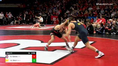 149 lbs Semifinal - Sammy Sasso, Ohio State vs Kanen Storr, Michigan