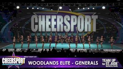 Woodlands Elite - OR - Generals [2020 L6 Senior Medium Day 1] 2020 CHEERSPORT Nationals: Friday Night Live