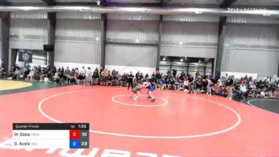 57 kg Quarterfinal - Whisenhunt Gabe, Poway Elite vs Drake Ayala, Sebolt Wrestling Academy