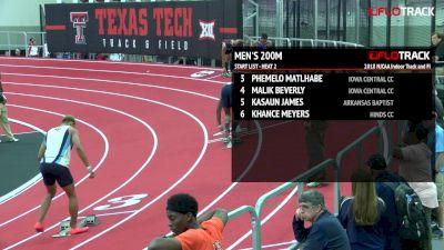 Men's 200m, Round 2 Heat 2