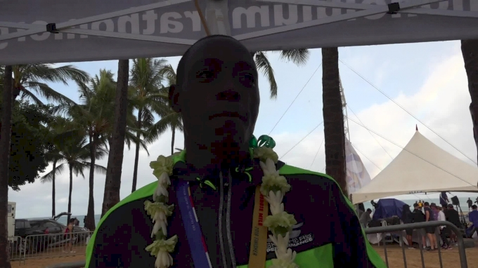 Cheserek After Fastest Hawaiian Mile