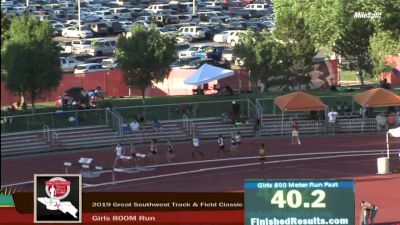High School Girls' 800m Elite, Finals 1