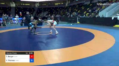 70 kg Quarterfinal - Tyler Berger, Sunkist Kids Wrestling Club vs Yahya Thomas, TMWC/ Wildcat Wrestling Club