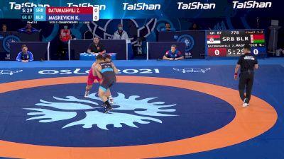 87 kg Final 1-2 - Zurabi Datunashvili, Serbia vs Kiryl Maskevich, Belarus