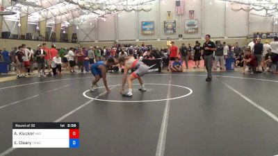 74 kg Round Of 32 - Alex Klucker, Mat-Town USA vs Elijah Cleary, TMWC/Ohio RTC
