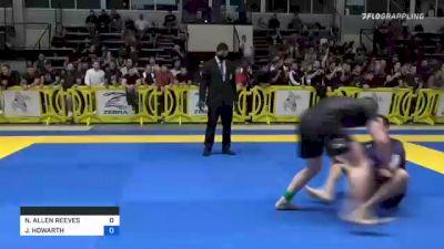 NICHOLAS ALLEN REEVES vs JACOB HOWARTH 2021 Pan IBJJF Jiu-Jitsu No-Gi Championship