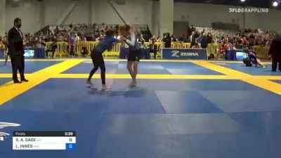 SELINE A. GAGE vs LORELAI INNES 2021 American National IBJJF Jiu-Jitsu Championship