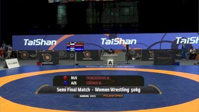 50kg Semi-Final - Mariya Stadnik, AZE vs Mariia Tiumerekova, RUS