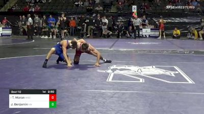 141 lbs Prelims - Tristan Moran, Wisconsin vs Justin Benjamin, Northwestern