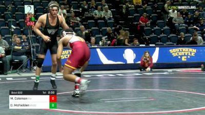 174 lbs Consolation - Marcus Coleman, Iowa State vs David McFadden, Virginia Tech
