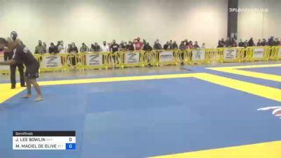 JOSHUA LEE BOWLIN vs MARCOS MACIEL DE OLIVEIRA 2020 IBJJF Pan No-Gi Championship