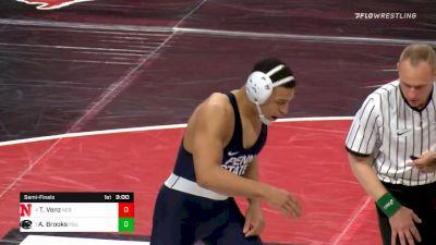 184 lbs Semifinal - Taylor Venz, Nebraska vs Aaron Brooks, Penn State