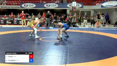 61 kg Quarterfinal - Teague Travis, Unattached vs Jarrett Trombley, Wolfpack Wrestling Club