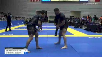 JOSEPH OTHMAR DIERKHISING vs ARNALDO MAIDANA DE OLIVEIRA 2021 World IBJJF Jiu-Jitsu No-Gi Championship