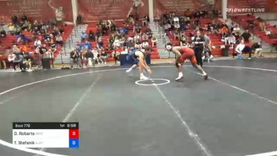 86 kg Consolation - Darrien Roberts, Oklahoma Regional Training Center vs Travis Stefanik, New Jersey RTC