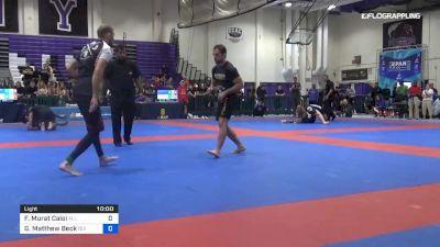 Fabio Murat Caloi vs Garrett Matthew Beck 2019 Pan IBJJF Jiu-Jitsu No-Gi Championship