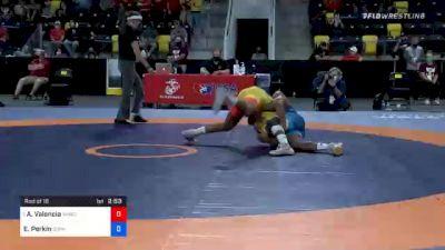 74 kg Prelims - Anthony Valencia, Sunkist Kids Wrestling Club vs Elroy Perkin, Gopher Wrestling Club - RTC