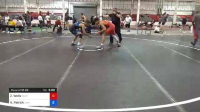 79 kg Consolation - Zachary Wells, Olivet Wrestling Club vs Robert Patrick, Cavalier Wrestling Club