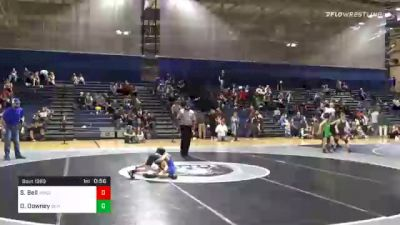 51 lbs 3rd Place - Slade Bell, Woodland Wrestling vs Drew Downey, Banks County USA Wrestling