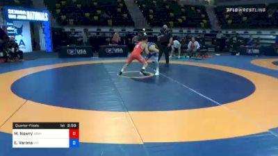 55 kg Quarterfinal - Max Nowry, Army (WCAP) vs Elijah Varona, Viking Wrestling Club (IA)
