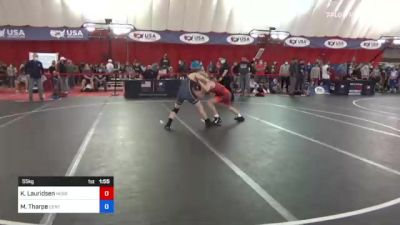 55 kg Round Of 32 - Kael Lauridsen, Nebraska Boyz vs Michael Tharpe, Center Grove Wrestling Club