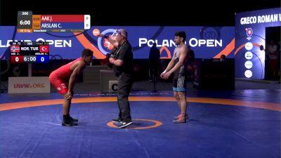 72kg Bronze - Juan Aak, NOR vs Cengiz Arslan, TUR