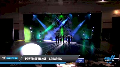 Power of Dance - Aquarius [2021 Junior - Pom - Small Day 3] 2021 CSG Dance Nationals