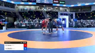 97 kg Semifinal - Braxton Amos, Badger Regional Training Center vs Nicholas Boykin, Sunkist Kids Wrestling Club
