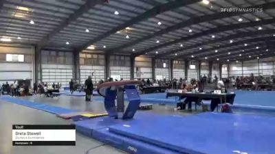 Greta Stowell - Vault, Olympus Gymnastics - 2021 Region 1 Women's Championships