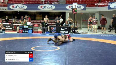 57 kg Consi Of 8 #2 - Patrick Mckee, Minnesota Regional Training Center vs Kyle Biscoglia, Unattached
