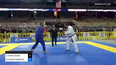 MICHAEL PRINCE ROBERTSON vs HASSAN HAMIN ASSAD 2020 World Master IBJJF Jiu-Jitsu Championship