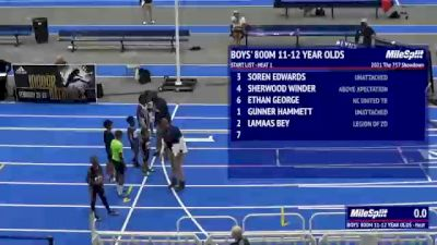 Youth Boys' 800m, Finals 1 - Age 11-12