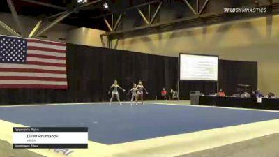 Lilian Prumanov - Women's Pairs, WOGA - 2021 USA Gymnastics Championships