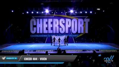Cheer 404 - ViXen [2021 L4 Junior - D2 - Small Day 2] 2021 CHEERSPORT National Cheerleading Championship