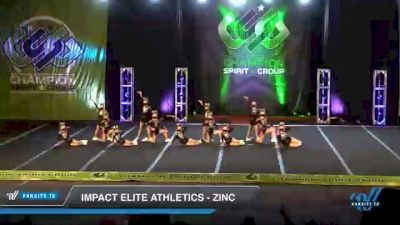 Impact Elite Athletics - Zinc [2021 L1.1 Youth - PREP Day 3] 2021 CSG Super Nationals DI & DII