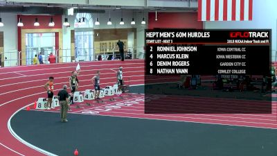Men's Heptathlon 60m Hurdles, Heat 3