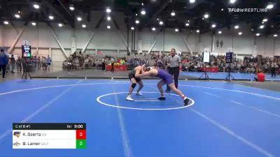 157 lbs Consolation - Keaton Geerts, Northern Iowa vs Brawley Lamer, Cal Poly