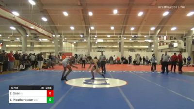 Prelims - Elijah Seay, King University vs Ethan Weatherspoon, UVA-Unattached
