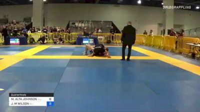 MAYLEAN ALTA JOHNSON vs JACINDA M WILSON 2021 American National IBJJF Jiu-Jitsu Championship