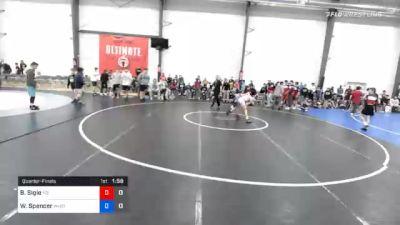 34 kg Quarterfinal - Brayden Sigle, M2 Magicians vs Wyatt Spencer, Wyoming Valley RTC Blue