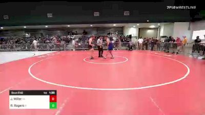 195 lbs Round Of 16 - Johnny Miller, PA vs Rylan Rogers, ID