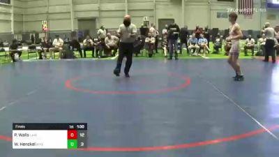 138 lbs Final - Preston Walls, Lake Highland Prep vs William Henckel, Wyoming Seminary