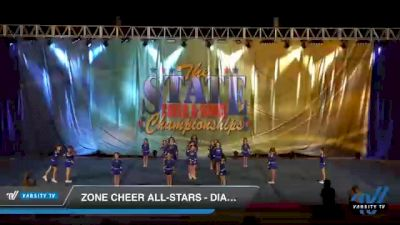 Zone Cheer All-Stars - Diamond [2021 L1 Mini - D2 Day 1] 2021 The STATE DI & DII Championships